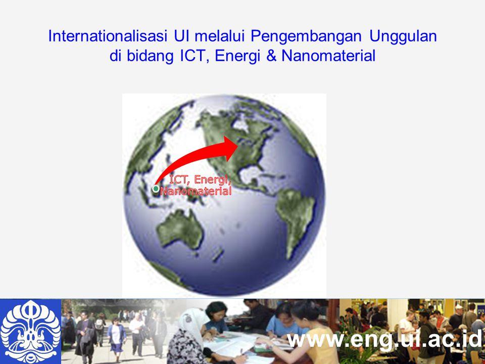 www.eng.ui.ac.id Internationalisasi UI melalui Pengembangan Unggulan di bidang ICT, Energi & Nanomaterial