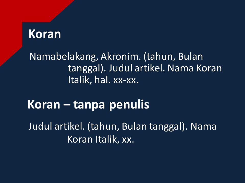 Website Namabelakang, Akronim.(tahun). Judul artikel.