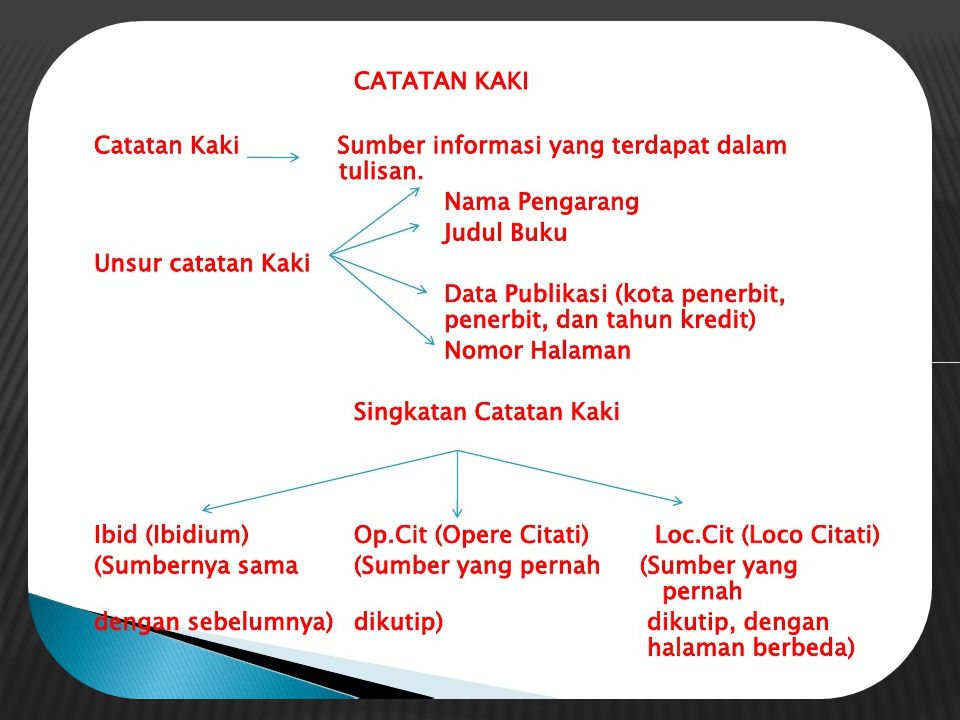 Penyusunan daftar pustaka dan penunjukannya pada naskah mengikuti salah satu dari tiga sistem berikut : a.
