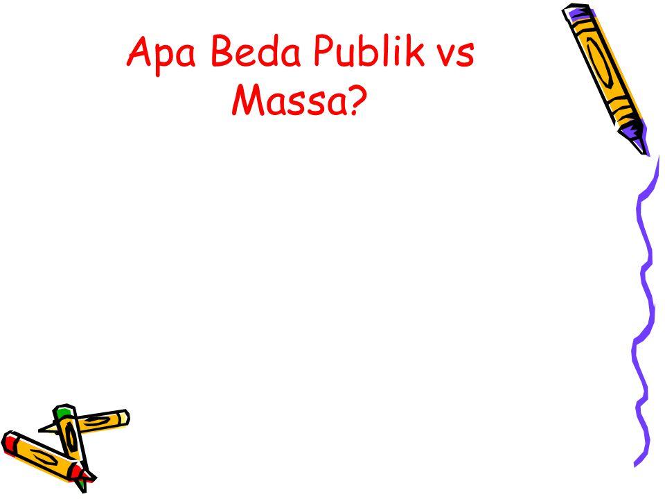Apa Beda Publik vs Massa?
