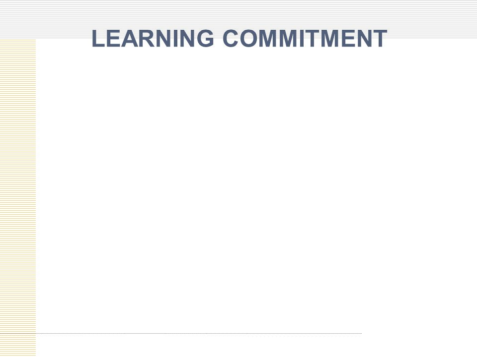 LEARNING COMMITMENT