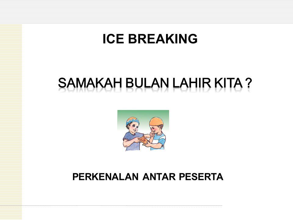 PERKENALAN ANTAR PESERTA ICE BREAKING