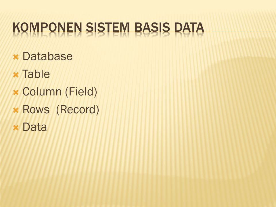  UPDATE  Syntax: UPDATE nm_tabel set nm_field1='isi', nm_field2='isi' Contoh: UPDATE buku SET judul_buku= Database MySql , pengarang= Atang Sanjaya , penerbit= Bentang WHERE kd_buku= BK002 ;