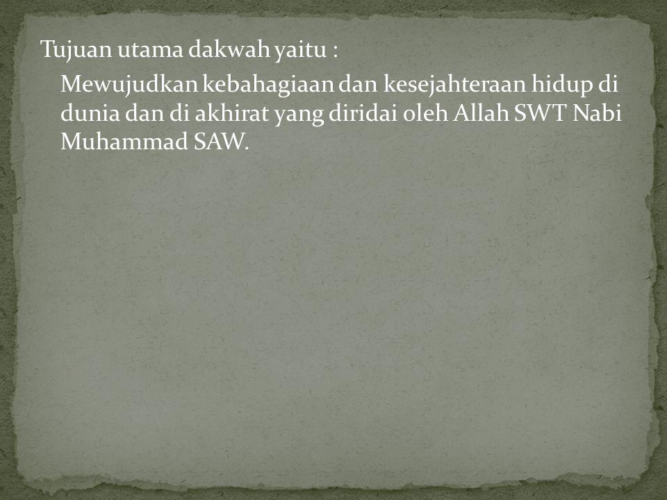 Rahasia besar kesuksesan Rasulullah Saw dalam berdakwah adalah menyampaikan dakwah melalui amal perbuatan.