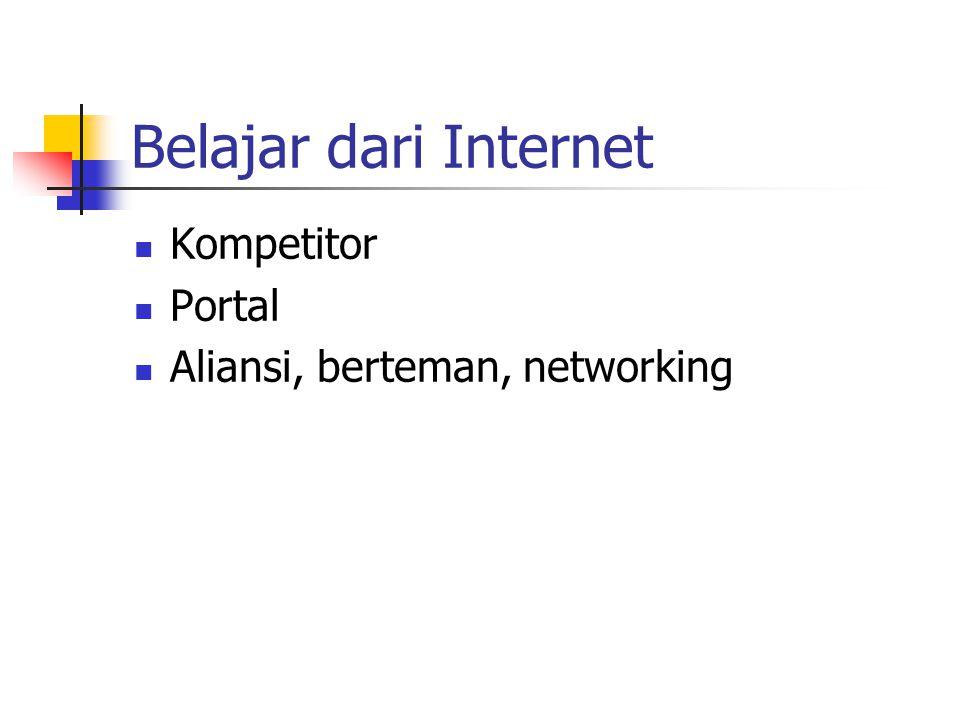 Belajar dari Internet Kompetitor Portal Aliansi, berteman, networking