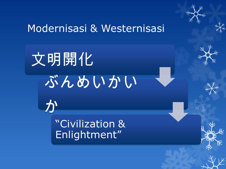 "Modernisasi & Westernisasi 文明開化 ぶんめいかい か ""Civilization & Enlightment"""