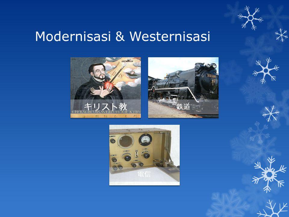 Modernisasi & Westernisasi キリスト教 鉄道 電信