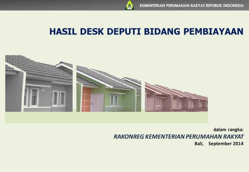 KEMENTERIAN PERUMAHAN RAKYAT REPUBLIK INDONESIA HASIL DESK DEPUTI BIDANG PEMBIAYAAN