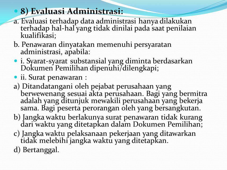 ii. Anggota ULP dan/atau PPK yang terlibat persekongkolan diganti, dikenakan sanksi administrasi dan/atau pidana; iii. Proses evaluasi tetap dilanjutk