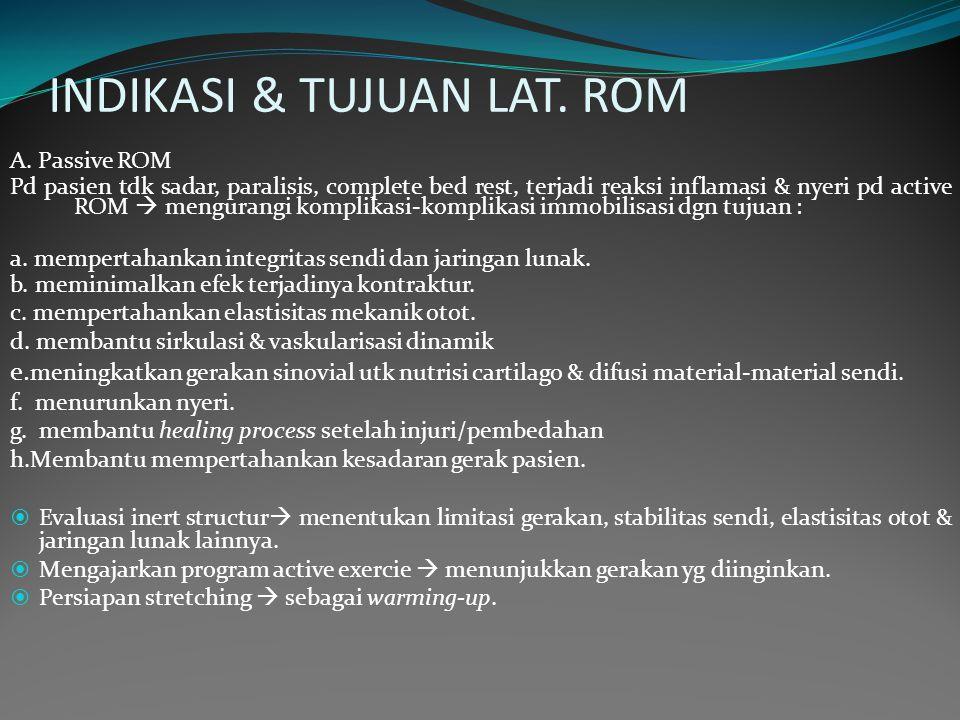 INDIKASI & TUJUAN LAT.ROM A.