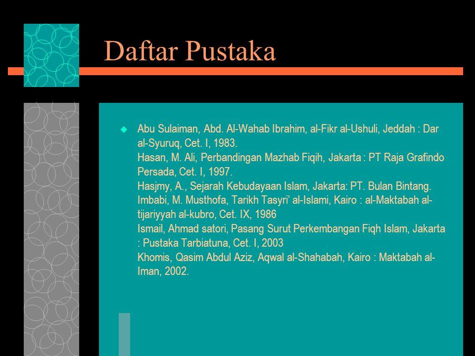 Daftar Pustaka  Abu Sulaiman, Abd.