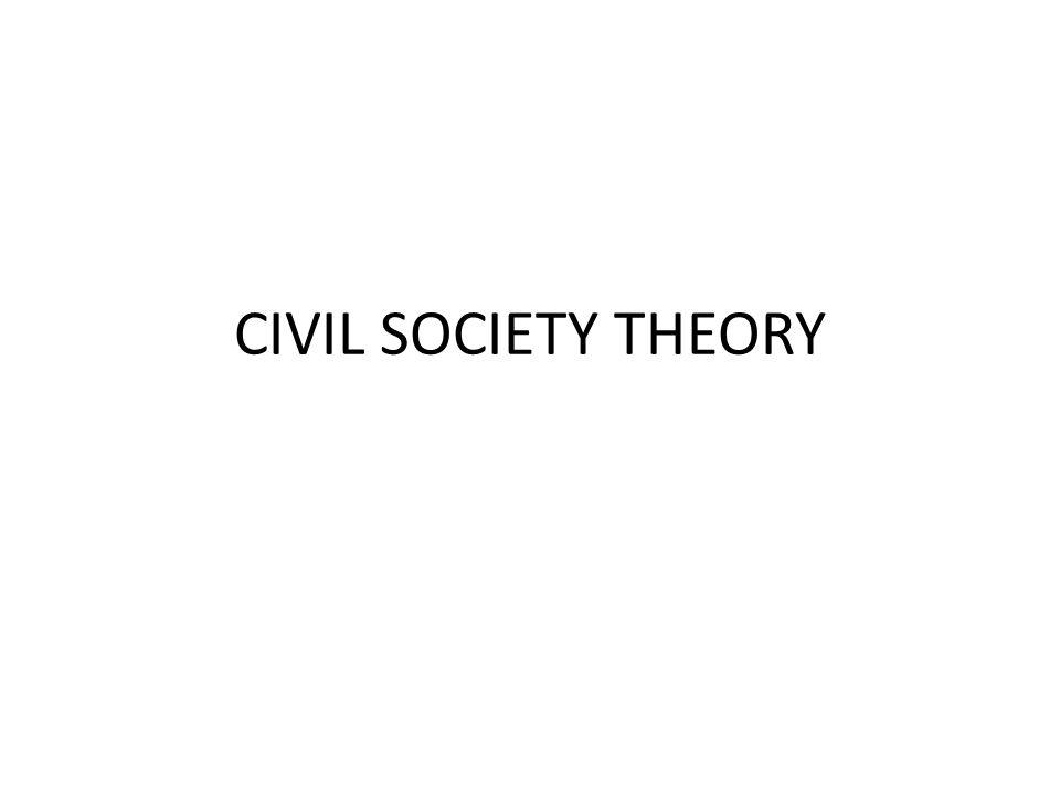 CIVIL SOCIETY THEORY