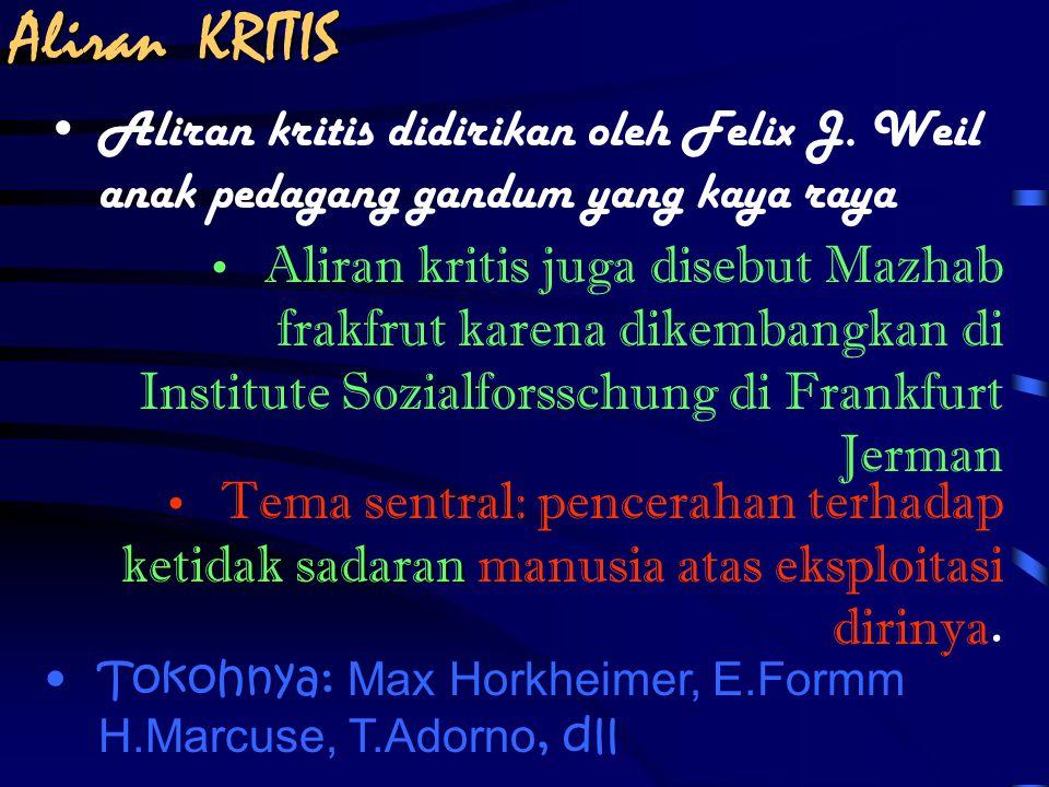 Frankfurt school Aliran kritis Teori kritis