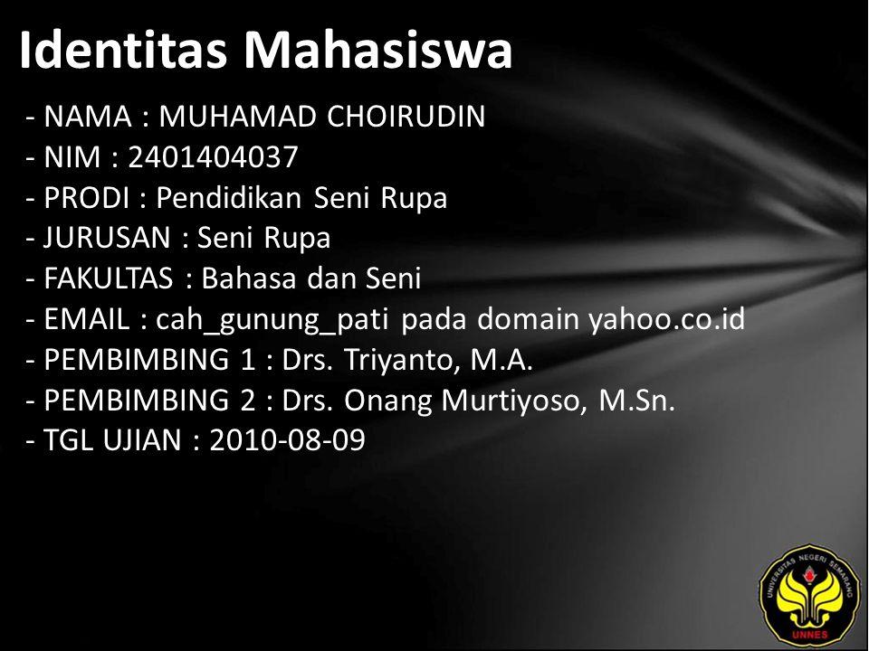 Judul Kerajinan Logam Kuningan UD. Duta Kharisma Sanjaya Bedono Kabupaten Semarang.