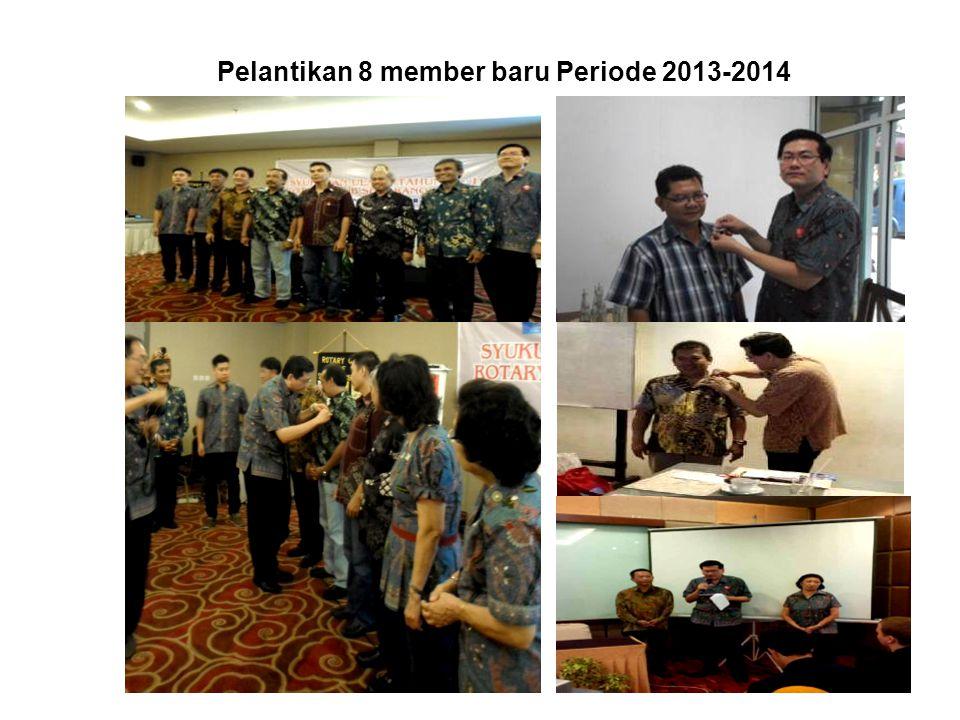 Pelantikan 8 member baru Periode 2013-2014