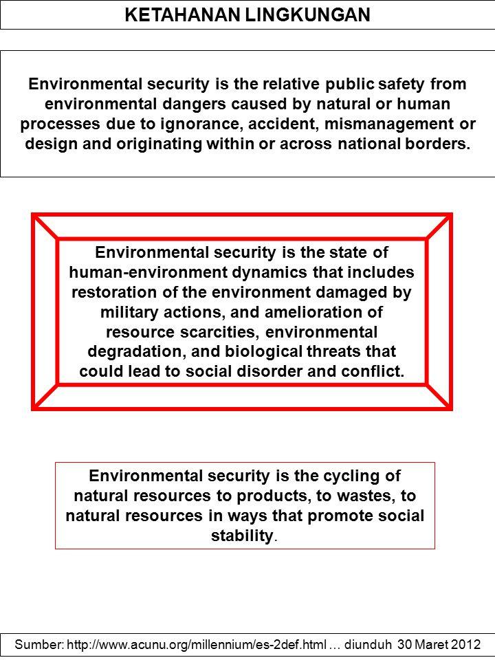ENVIRONMENTAL STRESS AS CAUSE OF A CONFLICT Environmental stress, i.e.