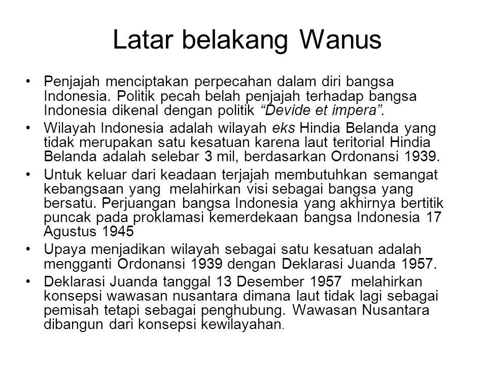Latar belakang Wanus Penjajah menciptakan perpecahan dalam diri bangsa Indonesia. Politik pecah belah penjajah terhadap bangsa Indonesia dikenal denga
