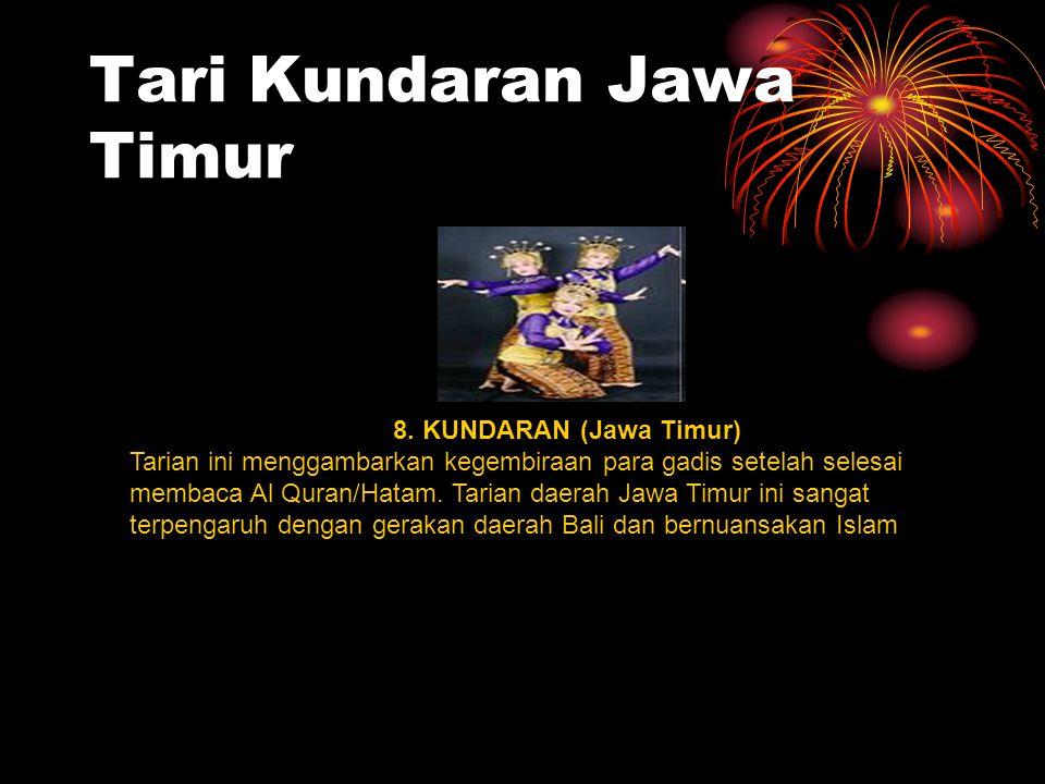 Tari Kundaran Jawa Timur 8.