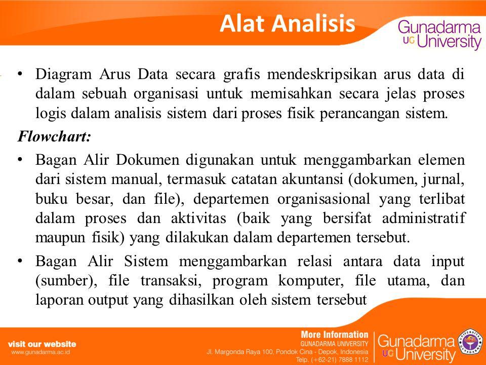 Alat Analisis Diagram Arus Data secara grafis mendeskripsikan arus data di dalam sebuah organisasi untuk memisahkan secara jelas proses logis dalam an