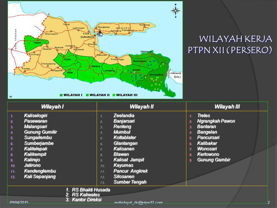 09/04/2015nurhidayat_du@ptpn12.com2 Wilayah I Wilayah II Wilayah III 1.
