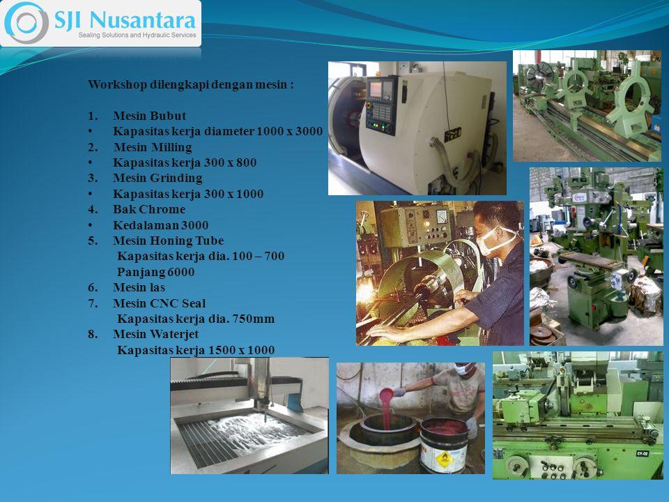 Workshop dilengkapi dengan mesin : 1.Mesin Bubut Kapasitas kerja diameter 1000 x 3000 2.