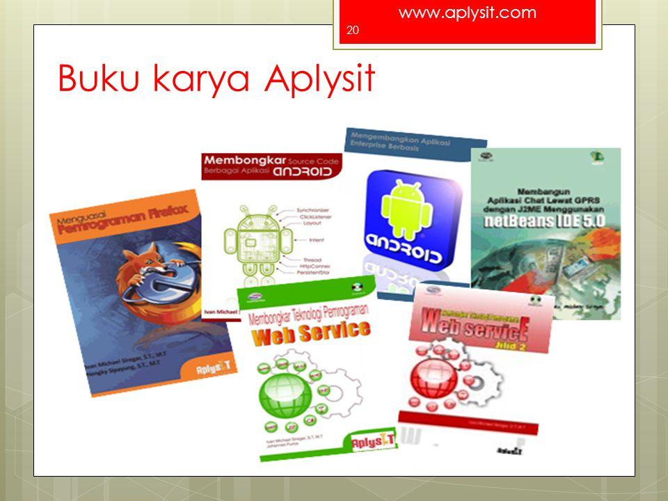 www.aplysit.com Buku karya Aplysit For a better Indonesia 20
