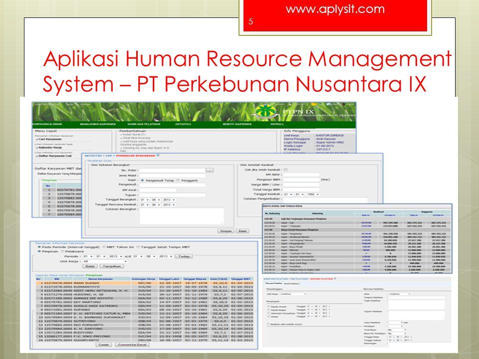 www.aplysit.com Aplikasi Poliklinik ELIM For a better Indonesia 6