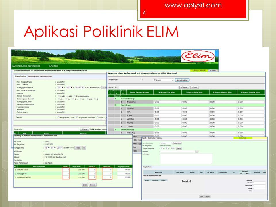 www.aplysit.com Aplikasi GIS - Benih For a better Indonesia 7