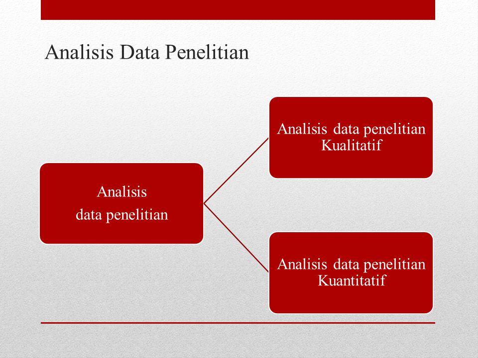 Analisis Data Penelitian Analisis data penelitian Analisis data penelitian Kualitatif Analisis data penelitian Kuantitatif