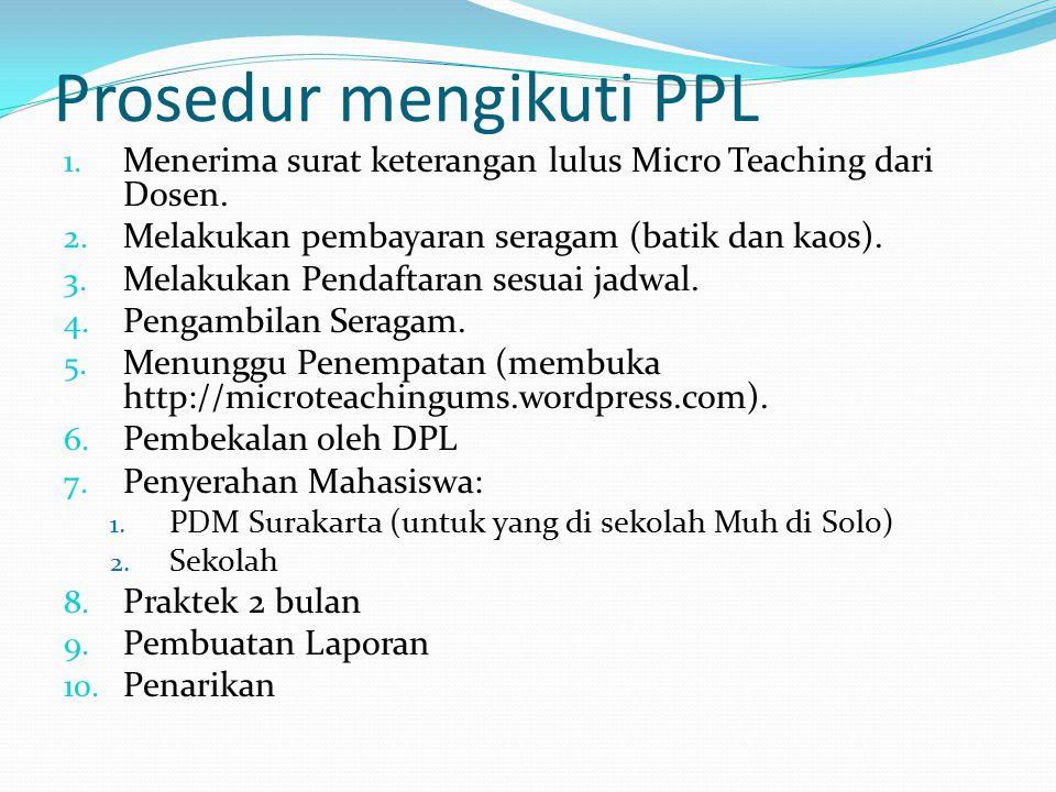 Aspek penilaian PPL 1.Persiapan dan Pelaksanaan Program Kerja 2.