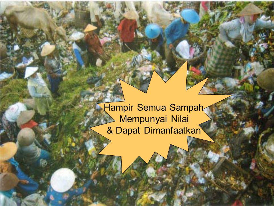 Hampir Semua Sampah Mempunyai Nilai & Dapat Dimanfaatkan Hampir Semua Sampah Mempunyai Nilai & Dapat Dimanfaatkan