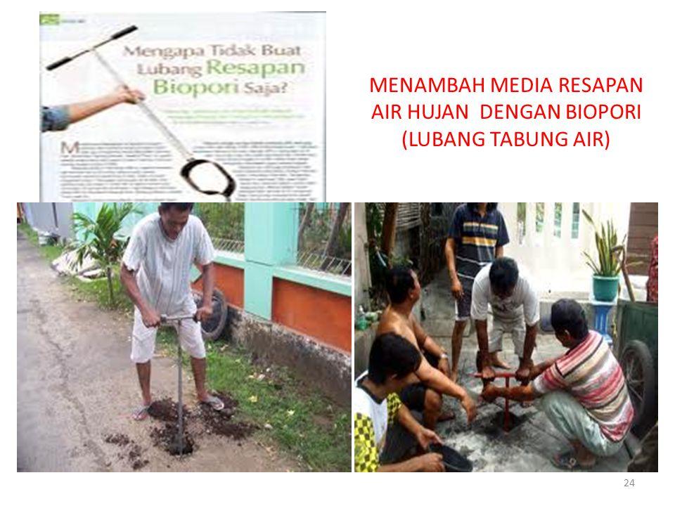 MENAMBAH MEDIA RESAPAN AIR HUJAN DENGAN BIOPORI (LUBANG TABUNG AIR) 24