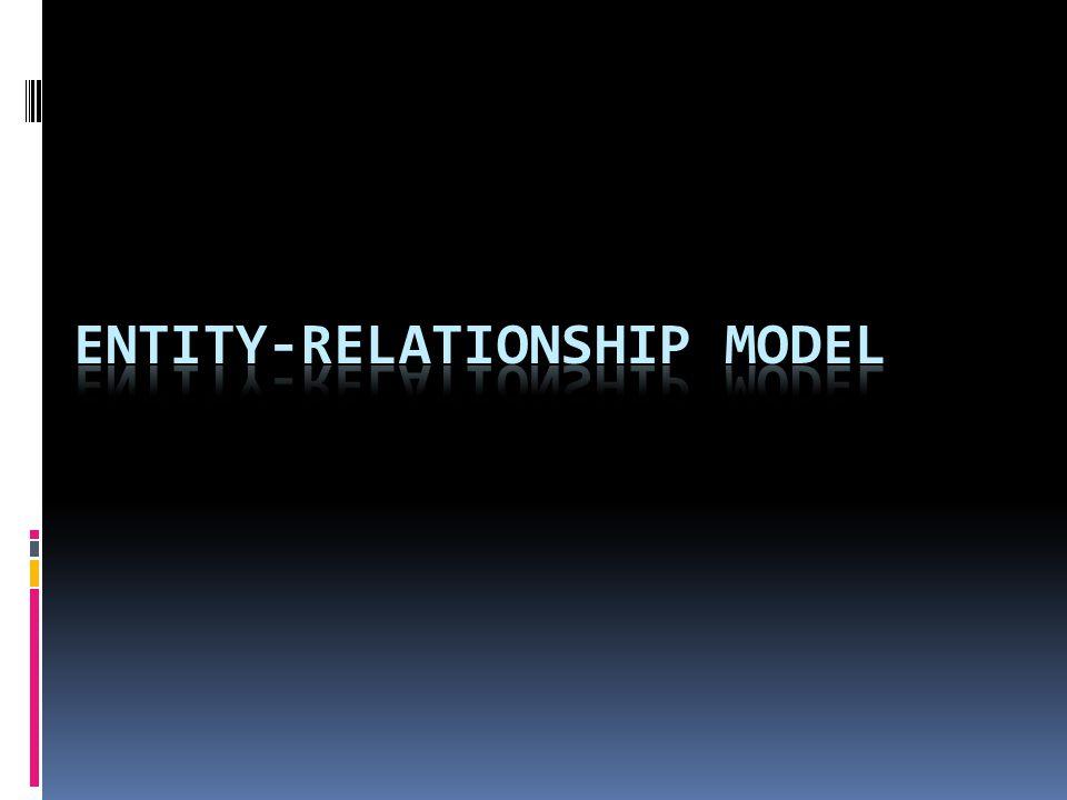 ENTITY-RELATIONSHIP MODEL  Entity relationship : cara memodelkan suatu data ditingkat konseptual dalam perancangan basis data.