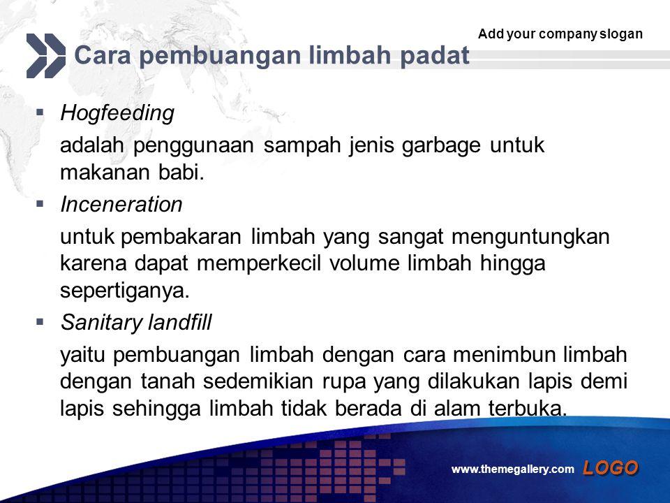 Add your company slogan LOGO Cara pembuangan limbah padat  Hogfeeding adalah penggunaan sampah jenis garbage untuk makanan babi.