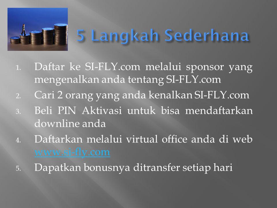 SI-FLY.COM SI-FLY.COM (Speed Indonesia) adalah sebuah mesin uang terbaru yang dapat memberikan hasil maksimal sampai dengan 200 juta rupiah per hari atau 6miliar rupiah perbulan
