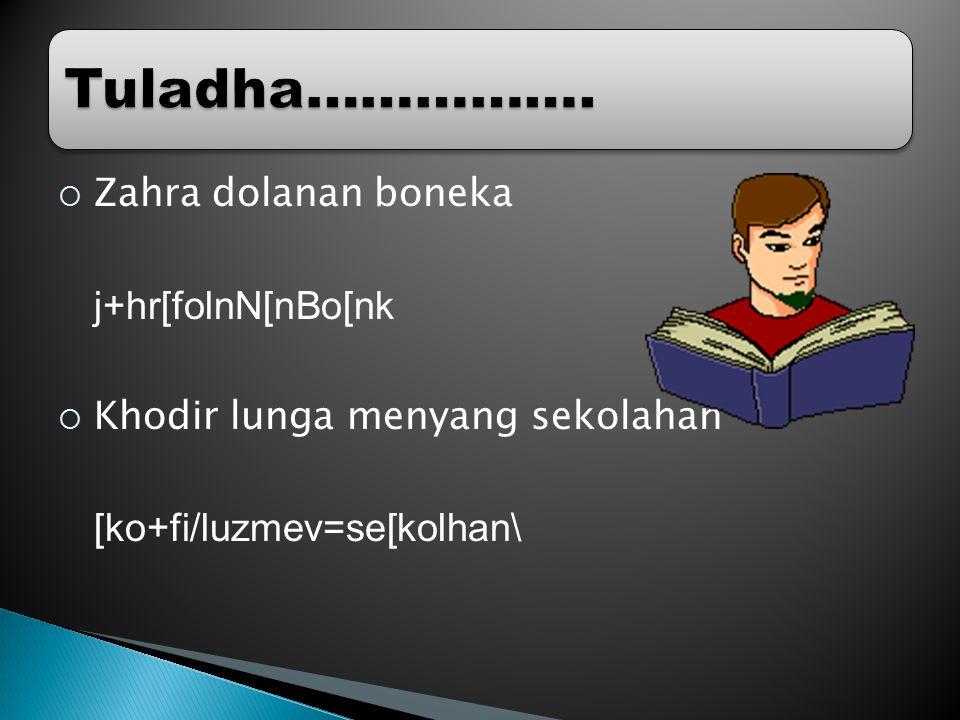  Zahra dolanan boneka j+hr[folnN[nBo[nk  Khodir lunga menyang sekolahan [ko+fi/luzmev=se[kolhan\