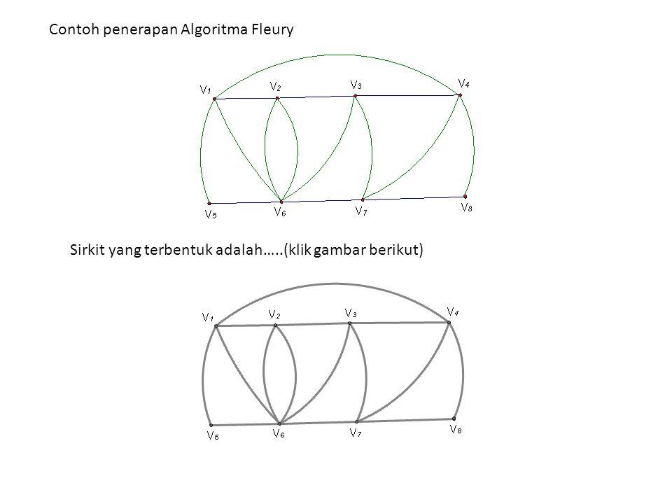 Bagaimana cara mengkonstruksi sebuah jejak Euler pada graph semi-Euler .