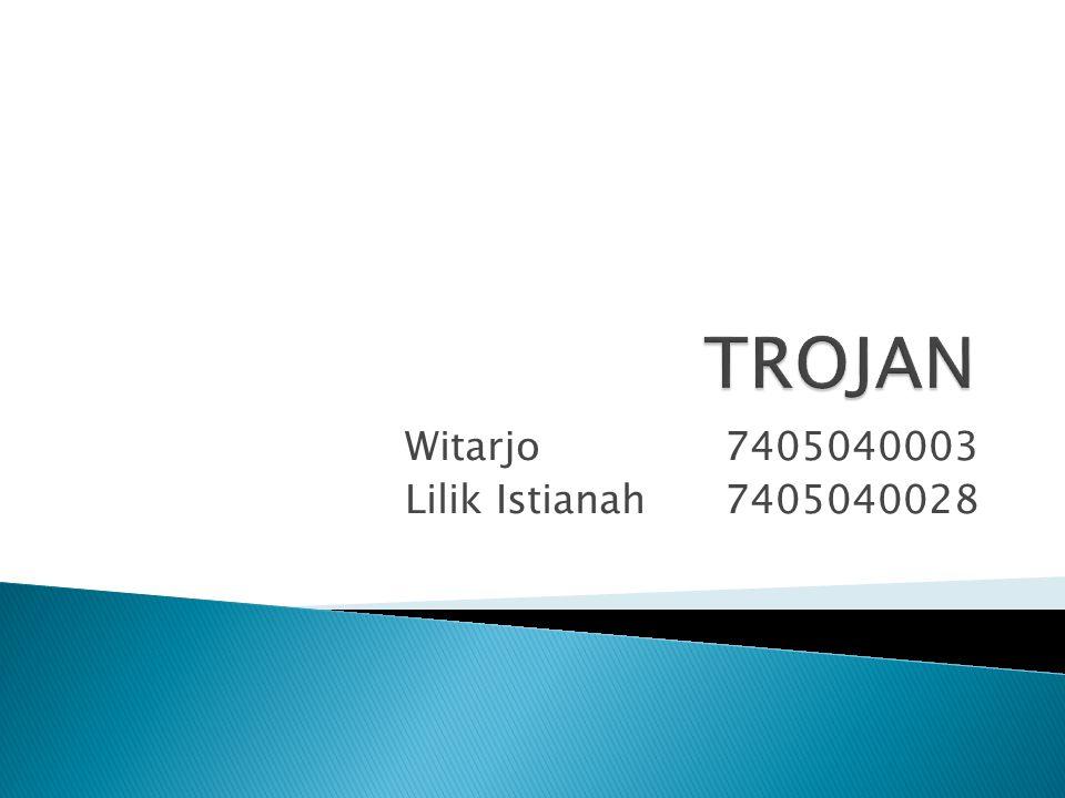Witarjo7405040003 Lilik Istianah7405040028