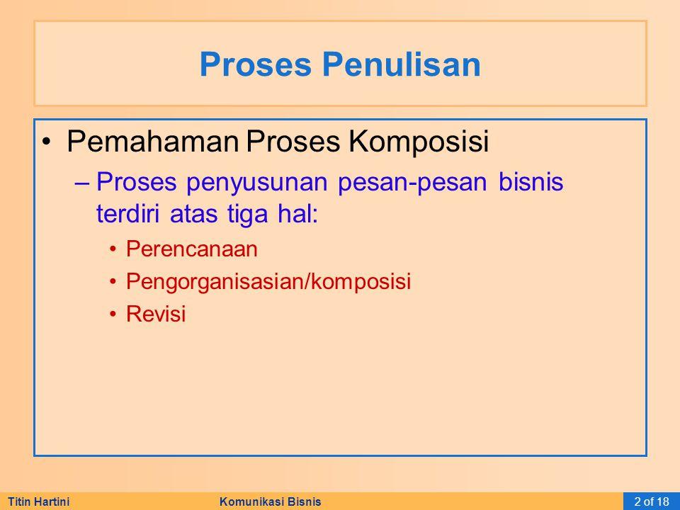 Titin Hartini Komunikasi Bisnis3 of 18 Pesan Bisnis Karakteristik Pesan Bisnis Efektif –Courtessy.