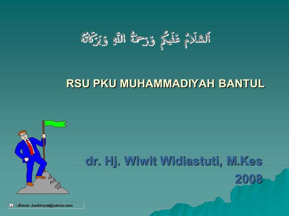 RSU PKU MUHAMMADIYAH BANTUL dr. Hj. Wiwit Widiastuti, M.Kes 2008 Email : budihope@yahoo.com