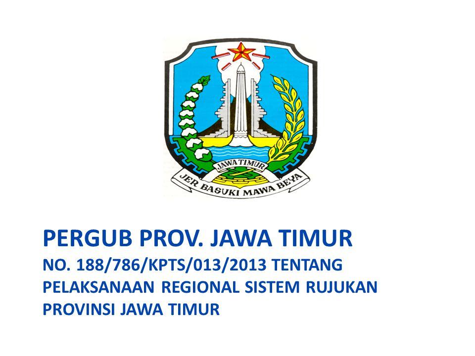 PERGUB PROV. JAWA TIMUR NO. 188/786/KPTS/013/2013 TENTANG PELAKSANAAN REGIONAL SISTEM RUJUKAN PROVINSI JAWA TIMUR
