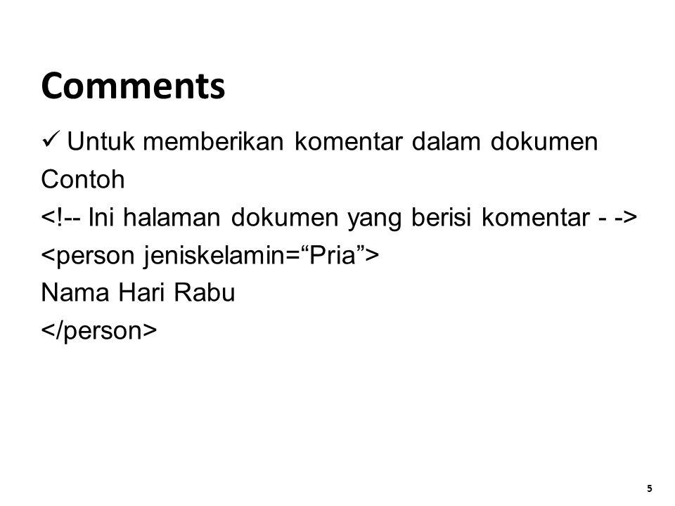 5 Untuk memberikan komentar dalam dokumen Contoh Nama Hari Rabu Comments