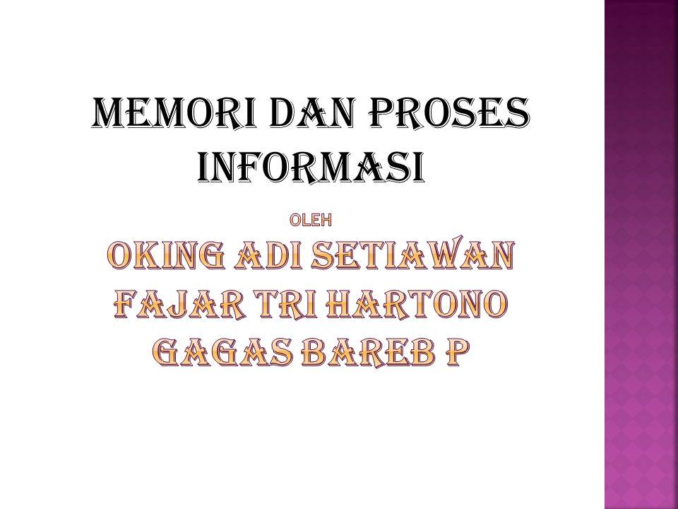 MEMORI DAN PROSES INFORMASI