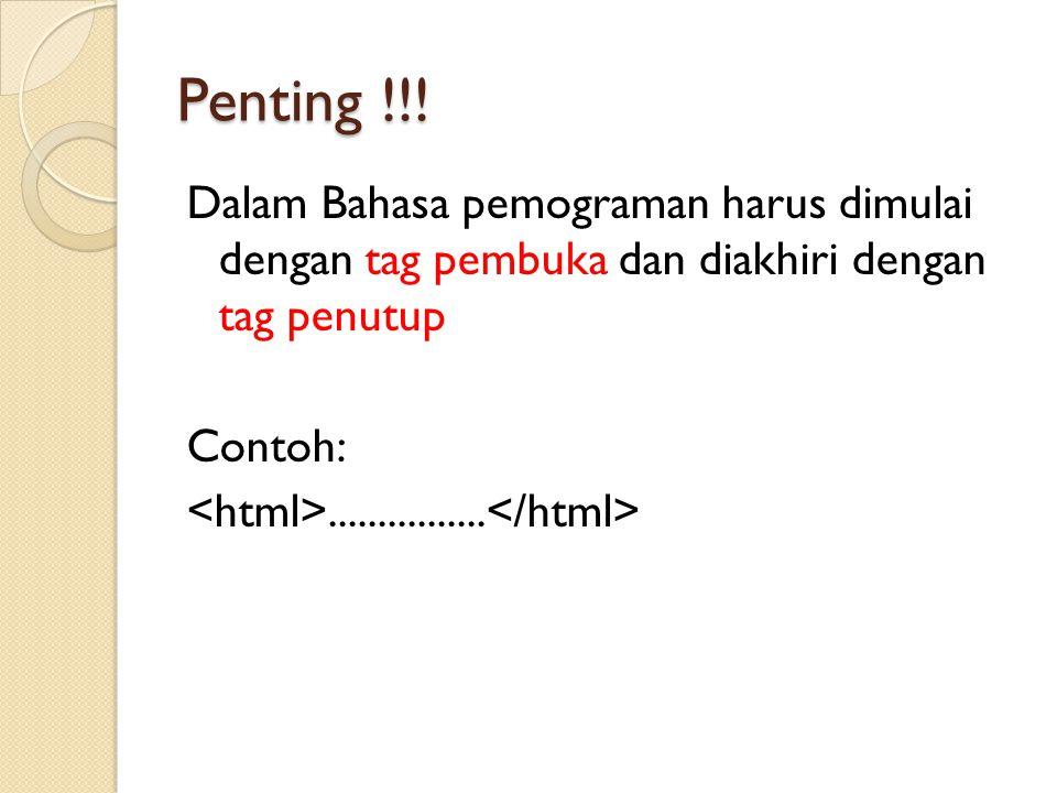 Penting !!.