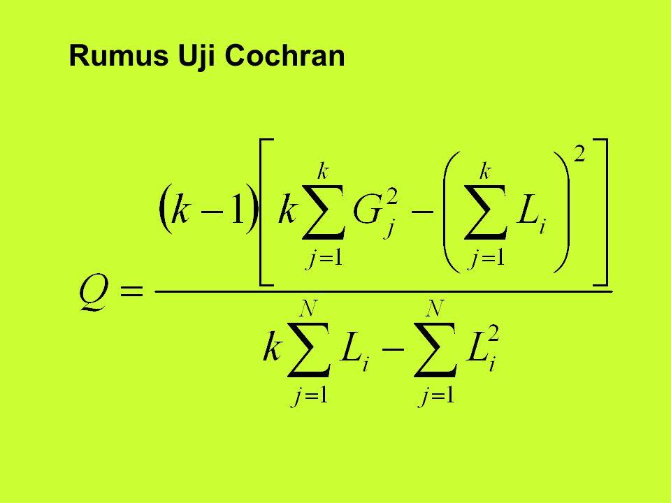 Rumus Uji Cochran