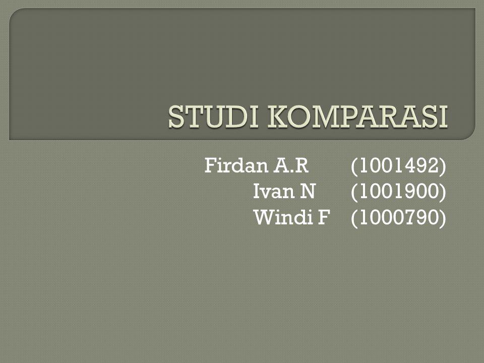 Firdan A.R(1001492) Ivan N(1001900) Windi F (1000790)