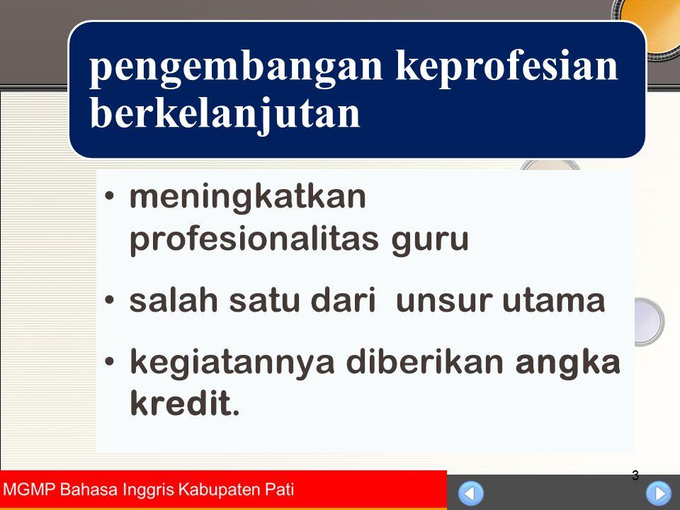 Universitas Negeri Jakarta 4 memperbanyak guru yang makin profesional bagi guru profesional, diberikan penghargaan di antaranya kenaikan golongannya Tujuan