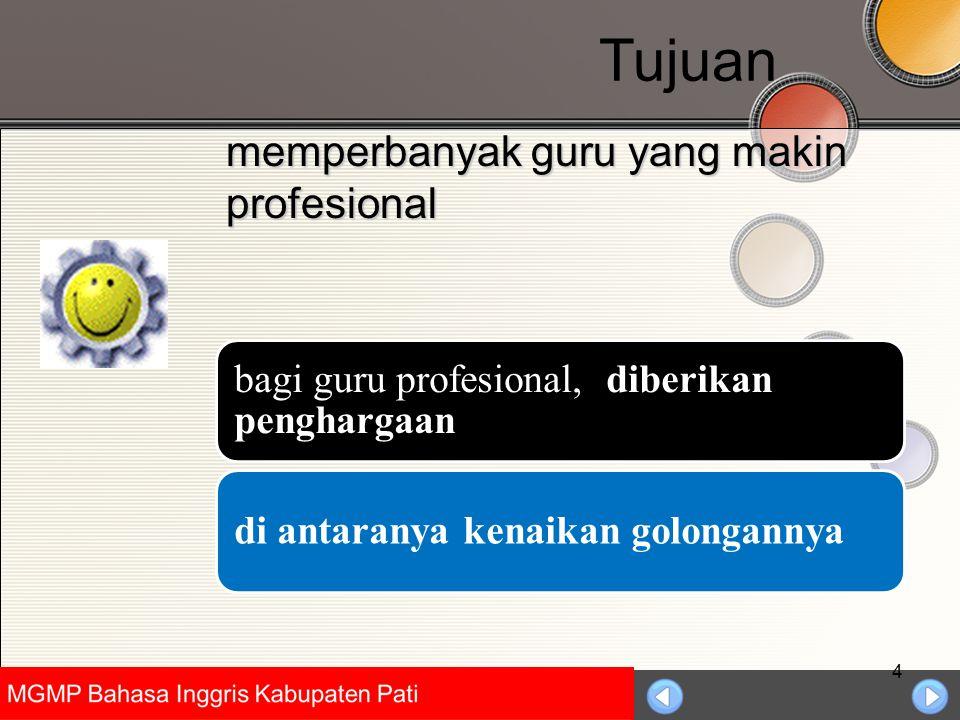 Universitas Negeri Jakarta 4 memperbanyak guru yang makin profesional bagi guru profesional, diberikan penghargaan di antaranya kenaikan golongannya T