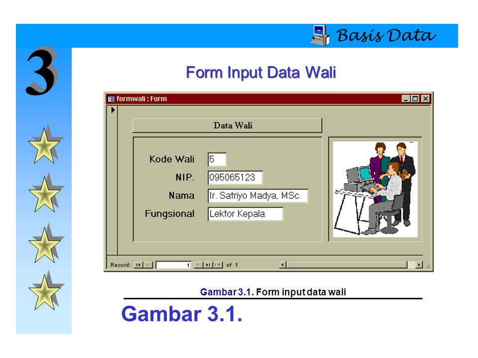3 3 Basis Data Form Input Data Wali Gambar 3.1. Gambar 3.1. Form input data wali