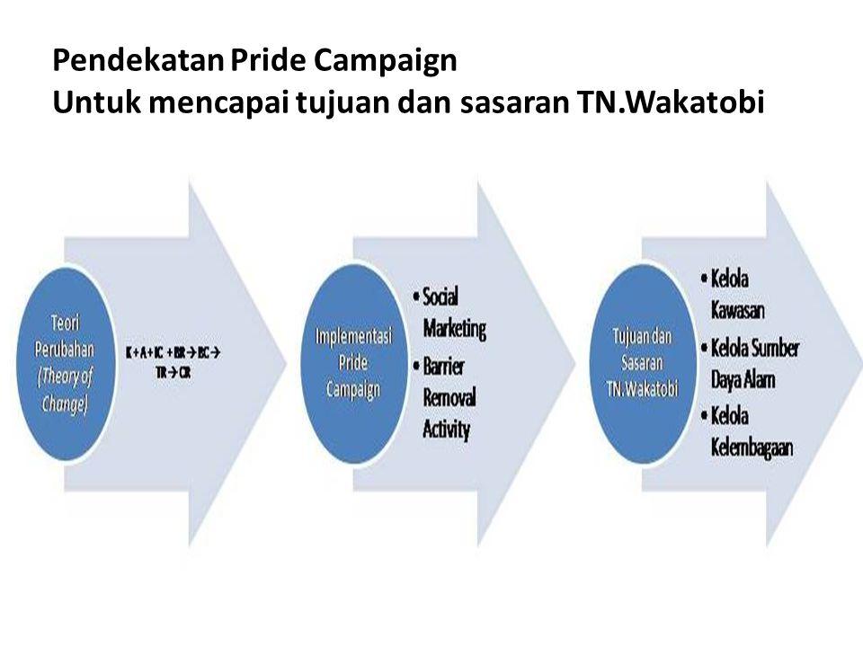 Pendekatan Pride Campaign Untuk mencapai tujuan dan sasaran TN.Wakatobi KELOLA KAWASAN KELOLA SUMBER DAYA ALAM KELOLA KELEMBAGAAN Ruang Lingkup Pengelolaan TN.Wakatobi